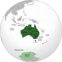 A map of Australia's states and territories