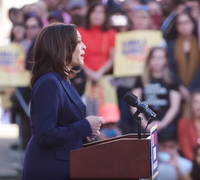 Harris announcing her presidential candidacy, January 27, 2019