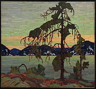 The Jack Pine by Tom Thomson. Oil on canvas, 1916, in the collection of the National Gallery of Canada.
