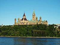Parliament Hill, home of the federal government in Canada's capital city, Ottawa
