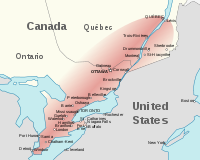 The Quebec City–Windsor Corridor is the most densely populated and heavily industrialized region of Canada, spanning 1200 km.