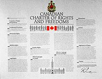 A copy of the Canadian Charter of Rights and Freedoms