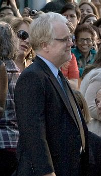 Hoffman at the Moneyball premiere in September 2011