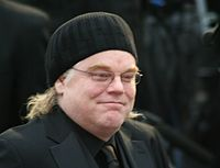 Hoffman at the 81st Academy Awards in February 2009, where he was nominated for Doubt