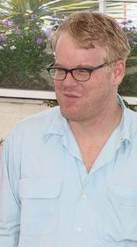 Hoffman at Cannes in 2002 promoting Punch-Drunk Love