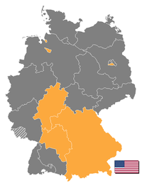 General Eisenhower served as military governor of the American zone (highlighted) in Allied-occupied Germany from May through November 1945