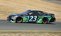 Gray Gaulding in the No. 23 at Sonoma Raceway in 2018