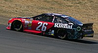 Cole Whitt in the No. 26 at Sonoma Raceway in 2014