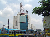 A telecommunications tower belonging to services provider Tata Communications