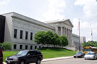 The Minneapolis Institute of Art's Neoclassical north facade, designed by McKim, Mead, and White