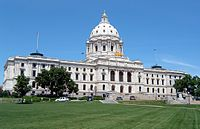 The Minnesota State Capitol in Saint Paul, designed by Cass Gilbert.