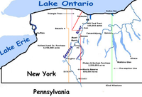 Selected tract purchases of western New York State
