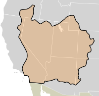 The boundaries of the State of Deseret, as proposed in 1849