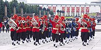 Indian army band in Russia during the Moscow Victory Day Parade