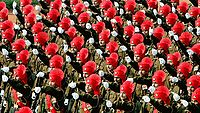 Soldiers of the Rajput Regiment during a Republic Day Parade