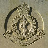A memorial for the 22 Indian Army Medical Corps at the War Cemetery in Taiping, Perak