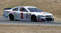 McMurray racing during the 2015 Toyota/Save Mart 350