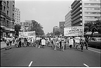 A Women's Liberation march in the U.S. Washington, DC, August 1970. March was from Farrugut Square to Lafayette Park.