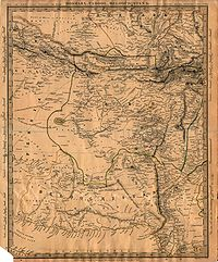 Map of the Kingdom of Caboul, published in 1838 by the Society for the Diffusion of Useful Knowledge. The name Caboul was attributed to most of current territories of Afghanistan.