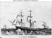 , a brig ship laid down in 1835 and launched in May 1836; used in the U.S. Exploring Expedition