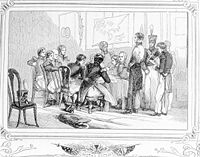 Trial of Robert Ambrister during the Seminole War. Ambrister was one of two British subjects executed by General Jackson. (1848)