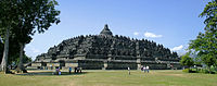 Borobudur in Central Java, the world's largest Buddhist temple, is the single most visited tourist attraction in Indonesia.