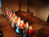 Dabke combines circle dance and line dancing and is widely performed at weddings and other joyous occasions.