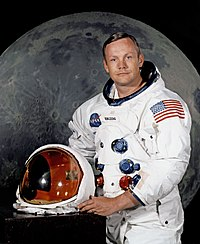 Neil Armstrong, first human to walk on the Moon (1969)