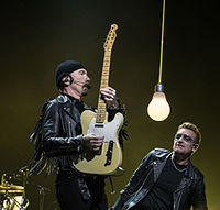 Rolling Stone ranked the Edge and Bono among the greatest guitarists and singers, respectively.