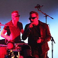 U2 performing at the Apple product launch at which Songs of Innocence was announced in September 2014