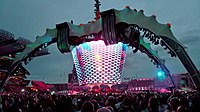 At 164 feet tall, the stage structure from the U2 360° Tour was the largest ever constructed. The tour became the highest-grossing in history, having earned US$736 million.
