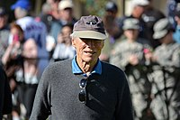 Eastwood playing golf at a charity fundraising event in 2015