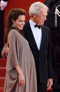 Eastwood and pregnant actress Angelina Jolie on the red carpet of the 2008 Cannes Film Festival for their film Changeling