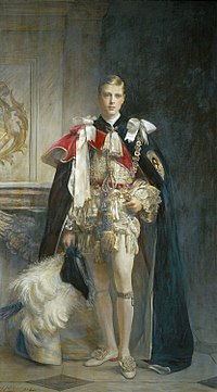 Portrait of Edward in the robes of the Order of the Garter by Arthur Stockdale Cope, 1912