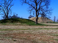 Platform mounds were constructed frequently during the Woodland and Mississippian periods.