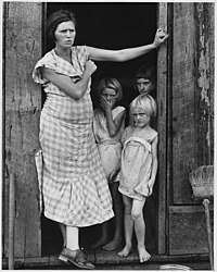 Wife and children of a sharecropper in Washington County, c.undefined 1935