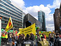Protest against nuclear power in Berlin, Germany, March 2011