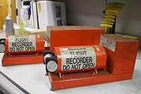 The flight data recorder (left) and cockpit voice recorder were recovered from the aircraft undamaged.