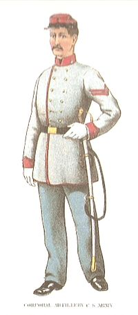 Corporal of the Artillery division of the Confederate Army