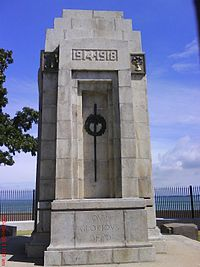 The Cenotaph in George Town, erected after World War I, commemorates fallen Allied soldiers.