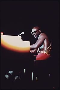 Isaac Hayes performing in 1973