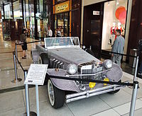 Liberace's rhinestone-studded Excalibur, which was used in the production