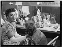 Holiday and her dog Mister, New York, c.undefined June 1946