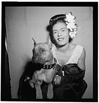 """""""Portrait of Billie Holiday and Mister, Downbeat, New York, N.Y., ca. Feb. 1947"""""""