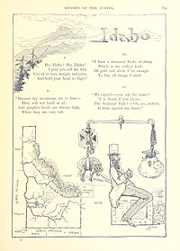 Early depiction of Idaho with rhyme