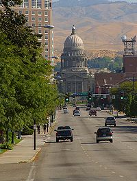The Idaho State Capitol in Boise