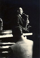 Improvisation plays a central role in jazz; musicians learn progressions using scale and chord tones (Pictured is Johnny Hodges)