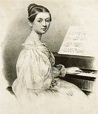 Nineteenth-century composer and pianist Clara Schumann.