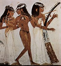 Musicians of Amun, Tomb of Nakht, 18th Dynasty, Western Thebes