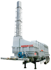 Mobile incineration unit for emergency use
